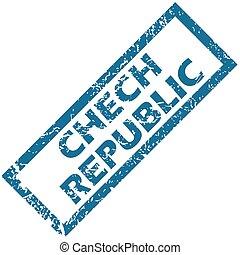 Chech Republic rubber stamp - Chech Republic grunge rubber...