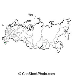 chechen republic on administration map of russia - emblem of...