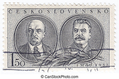 CHECHOSLOVAKIA - CIRCA 1953 : stamp printed in...