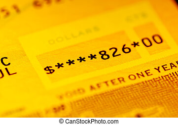 Check Amount - Photo of a Check.