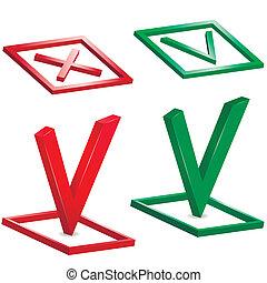 check and cross mark