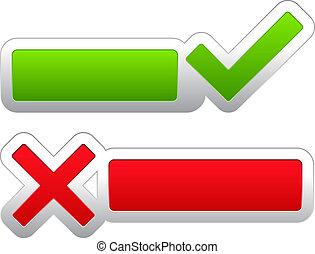 Check and cross symbols