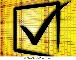 yellow check box. check box black on yellow texture business