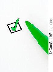 check-box, vert