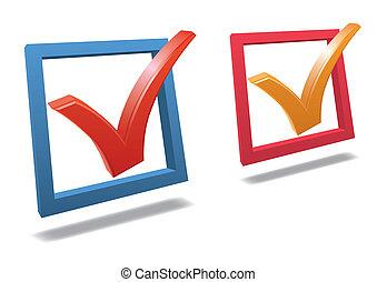 Check box with check mark vector