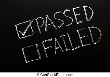 Check boxes of passed and failed with passed checked on a blackboard