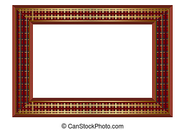 Check Brown Pattern Frame