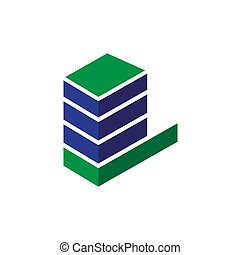 check building solution logo icon template