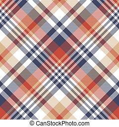 Check classic tartan seamless pattern. Vector illustration.