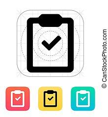 Check clipboard icon.