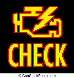 Check engine light - icon that pops up on dash when...