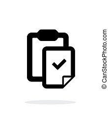 Check file with clipboard simple icon on white background....