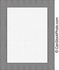 Check Frame, Polka Dot Background - Black and white check...