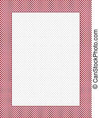 Check Frame, Polka Dot Background
