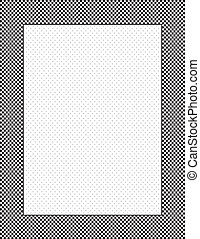 Check Frame, Polka Dot Background - Black and white check...