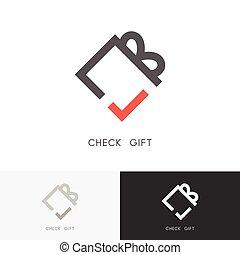 Check gift logo