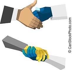 check hand
