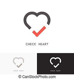 Check heart logo