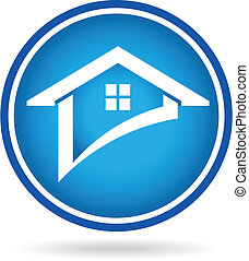 Check house real estate image. Vector icon