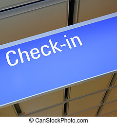 Check-in sign