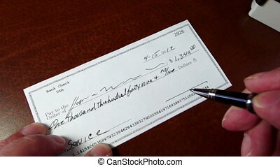 Check is signsed and stamped reject - Personal check is...