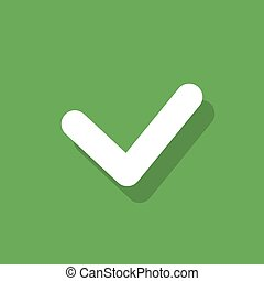 Check list button tick mark sign flat icon design vector