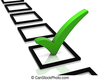 Check List - Check list with green check mark isolated on ...