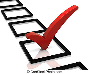 Check List - Check list with red check mark isolated on...