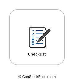Check List Icon. Business Concept. Flat Design.