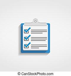 Check list icon, flat design, vector eps10 illstration