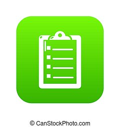 Check list icon green