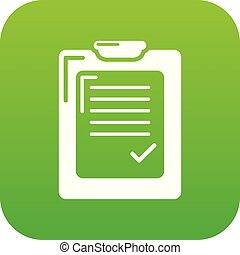 Check list icon green vector