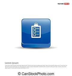 Check list ok Icon - 3d Blue Button