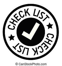 check list stamp on white