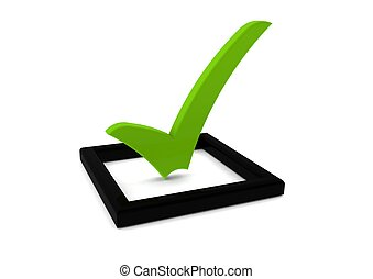 Check list symbol - Rendered artwork with white background