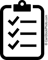 Check list vector icon on white background