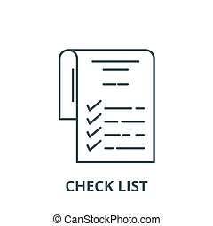 Check list vector line icon, linear concept, outline sign, symbol