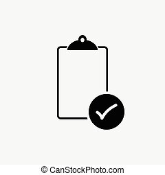 Check List  vector  on white background ,icon