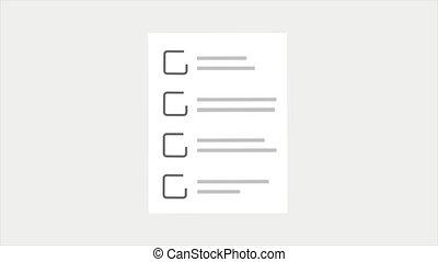 Check List Web Template Animation. Motion design 4k
