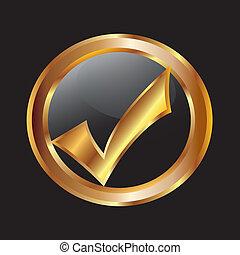 Check mar gold icon vector