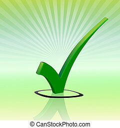 Check mark-3D - Illustration sign the check mark in three ...