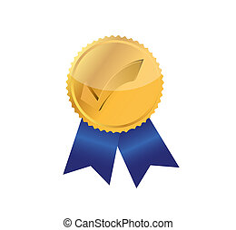 check mark award stamp illustration