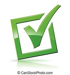 check mark box icon