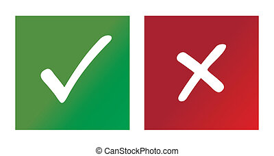Check mark graphic on white background. Vector illustration.