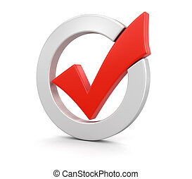 Check Mark (clipping path included) - Check Mark. Image with...