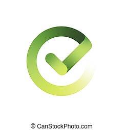 Check mark design, logo template, clean vector