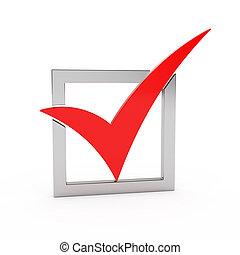Check mark - 3d render of check mark