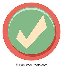 check mark flat icon in circle