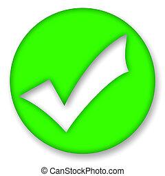 Check mark - Green check mark symbol over white background