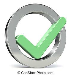 Check mark Green - Circle shape Check mark, green